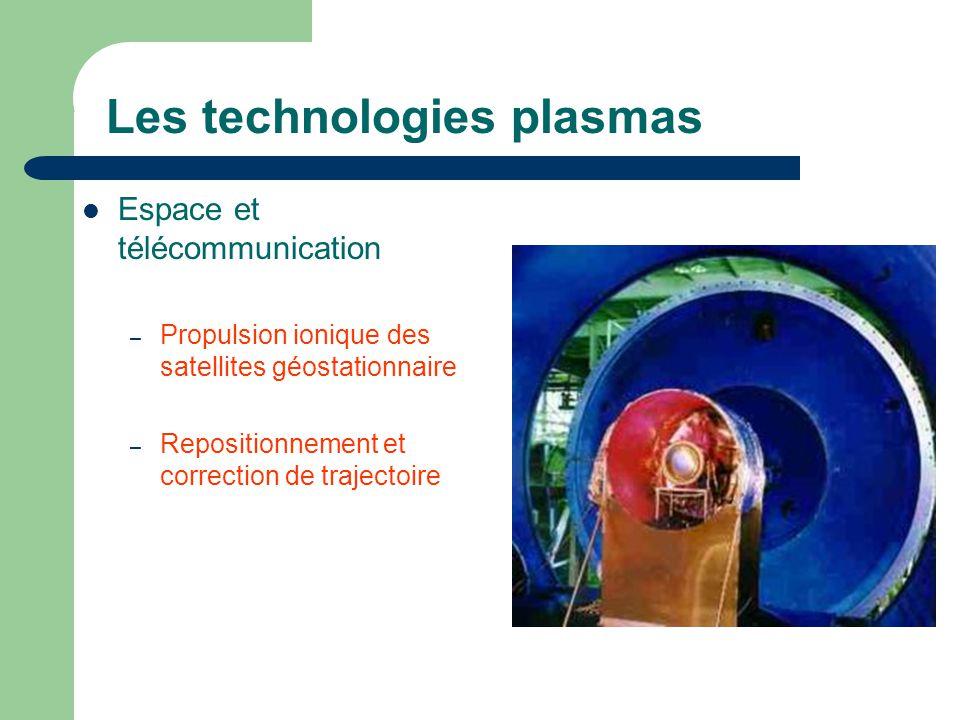 Les technologies plasmas Espace et télécommunication – Propulsion ionique des satellites géostationnaire – Repositionnement et correction de trajectoi