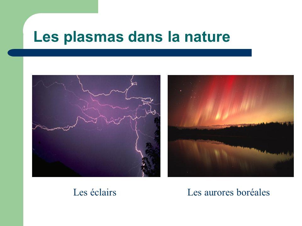 Les plasmas dans la nature Les éclairsLes aurores boréales