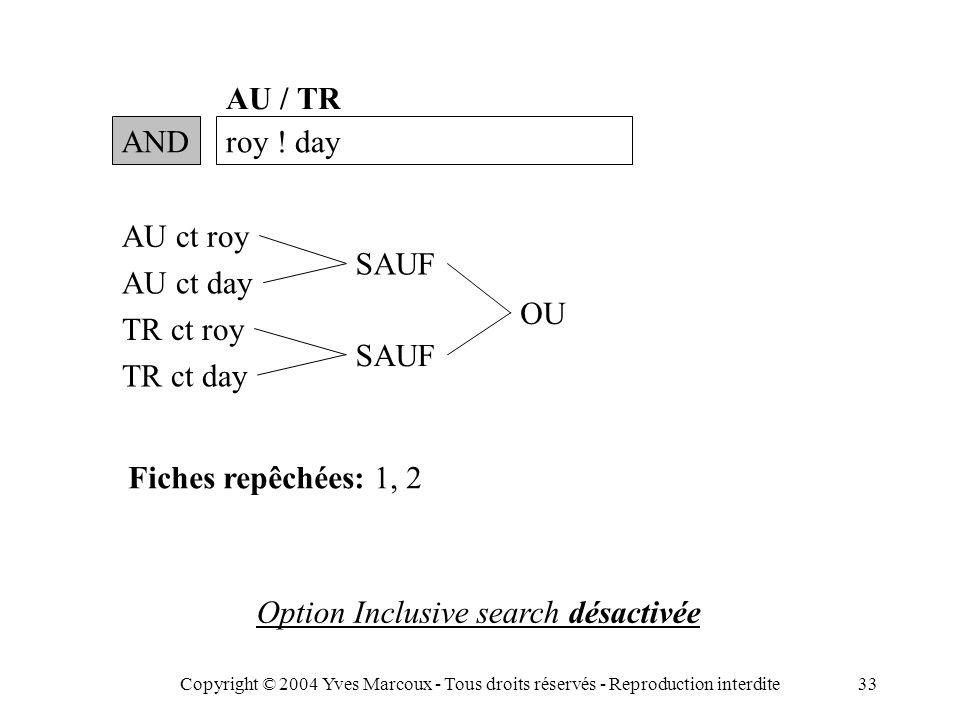 Copyright © 2004 Yves Marcoux - Tous droits réservés - Reproduction interdite33 ANDroy .