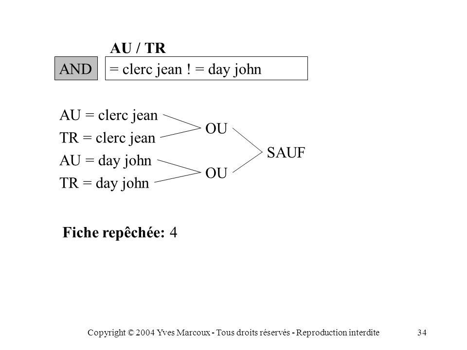 Copyright © 2004 Yves Marcoux - Tous droits réservés - Reproduction interdite34 AND= clerc jean .