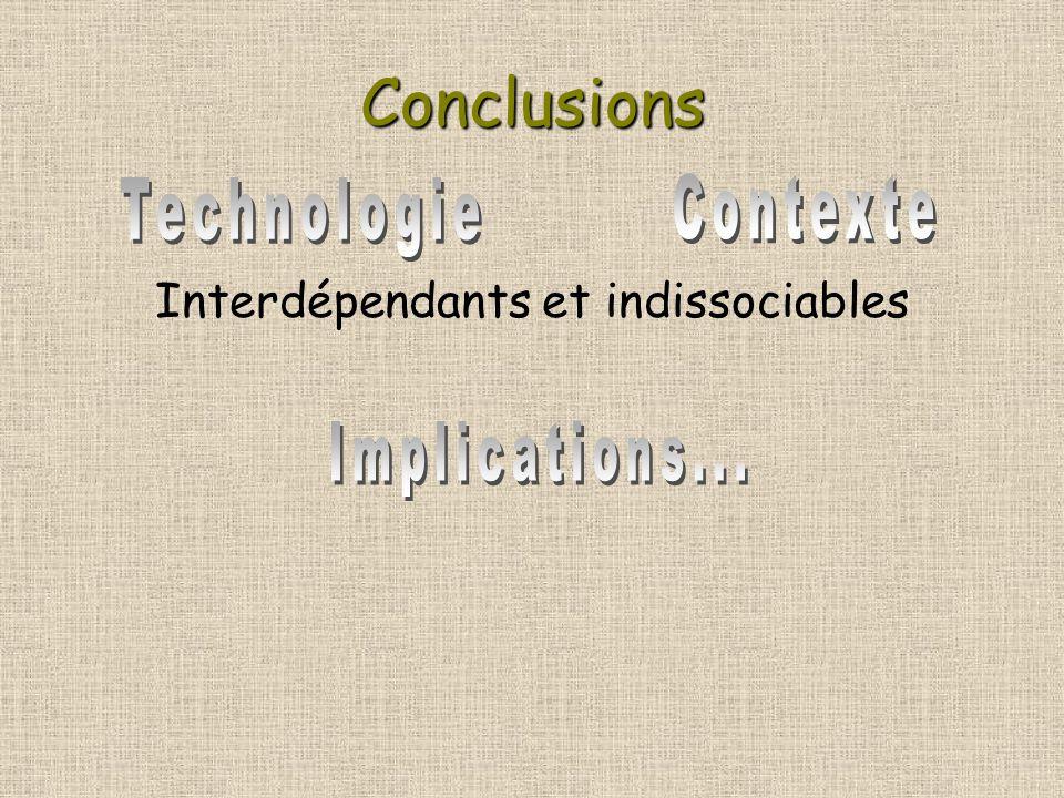Conclusions Interdépendants et indissociables