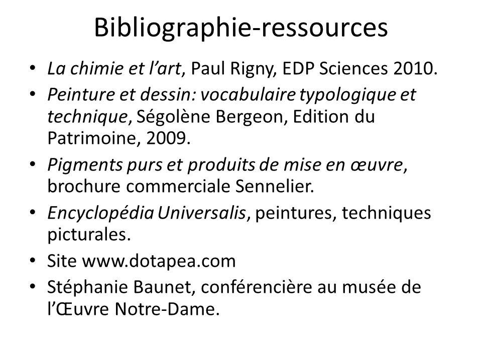 Bibliographie-ressources La chimie et l'art, Paul Rigny, EDP Sciences 2010.
