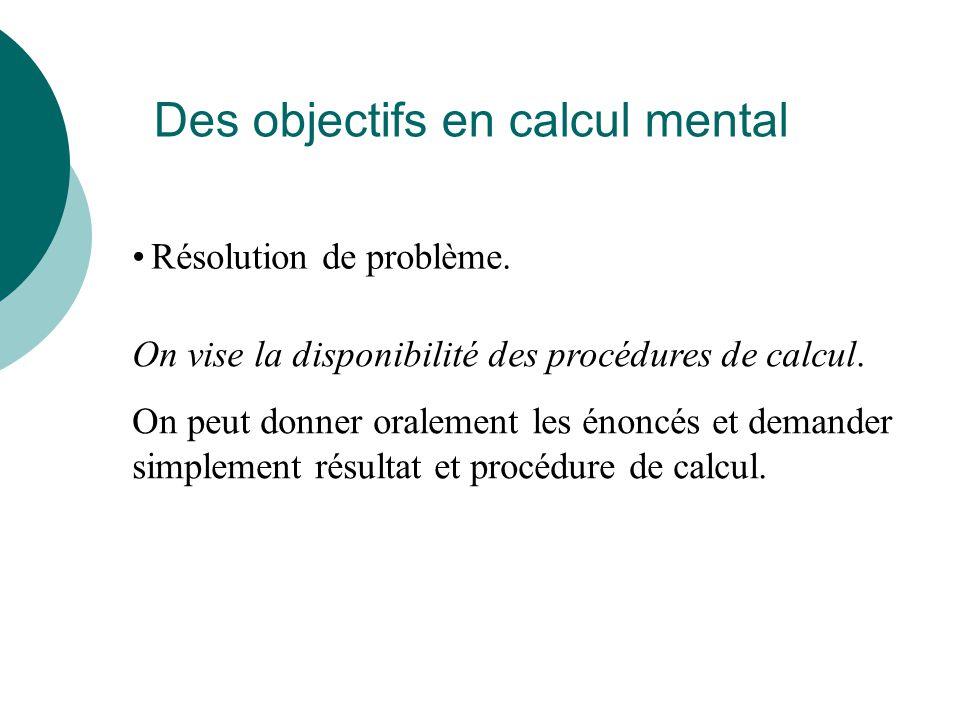 Le calcul mental Quelques exemples en quatrième Calcul littéral Si x = 5, calculer 5 x – 3 Si a= 10 et b = -2, calculer 5a – 2b Calcul de volumes 3 m 4 m Équations Résoudre l'équation -7x = 35 Résoudre l'équation 2x + 10 = 15 48 362 6418 94 4912 10016 81 6 114 Carrés Associer le carré et le double d'un même nombre Calcul sur les fractions 1 - : 0,25 5 3 3 7