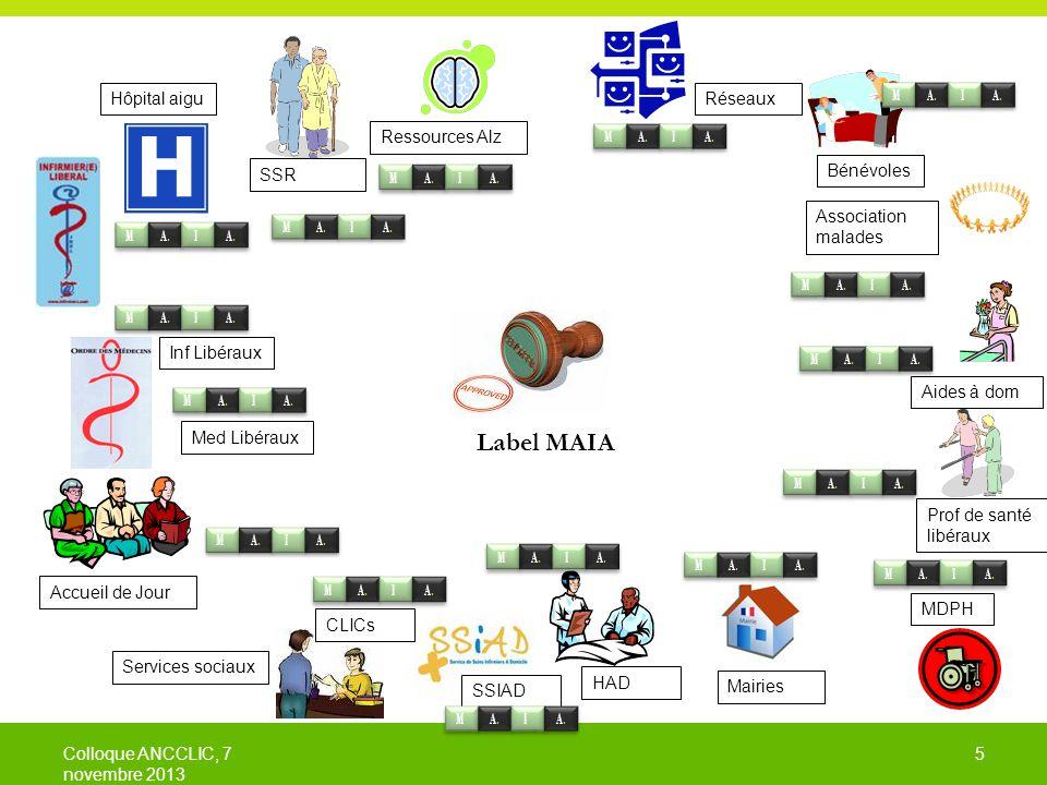 6 6 Des travaux en cours … Système d'informations partageables Renforcement du cadre légal pour soutenir la continuité Accompagnement du déploiement en région, appui aux ARS Label MAIA Colloque ANCCLIC, 7 novembre 2013