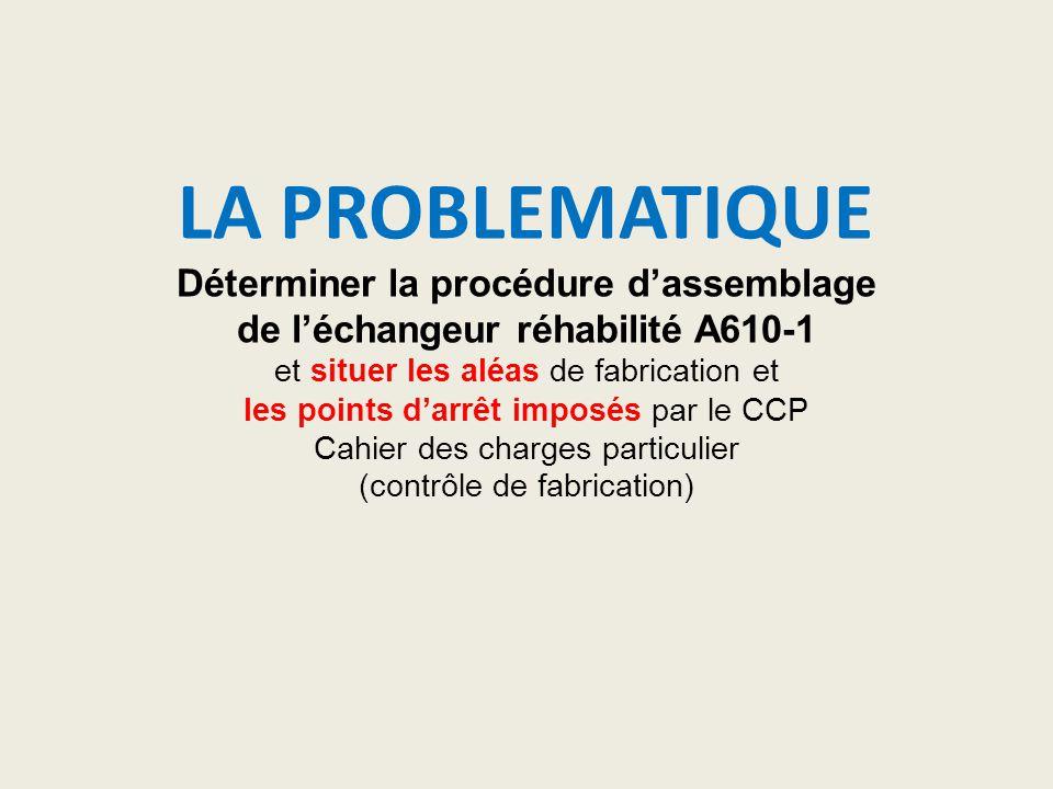 LA PROBLEMATIQUE Déterminer la procédure d'assemblage de l'échangeur réhabilité A610-1 et situer les aléas de fabrication et les points d'arrêt imposé