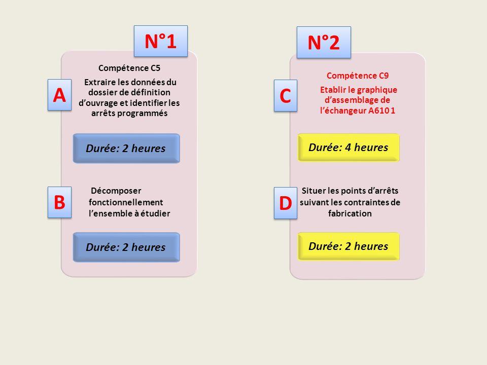 Compétence C9 Etablir le graphique d'assemblage de l'échangeur A610 1 Durée: 4 heures Compétence C5 Extraire les données du dossier de définition d'ou