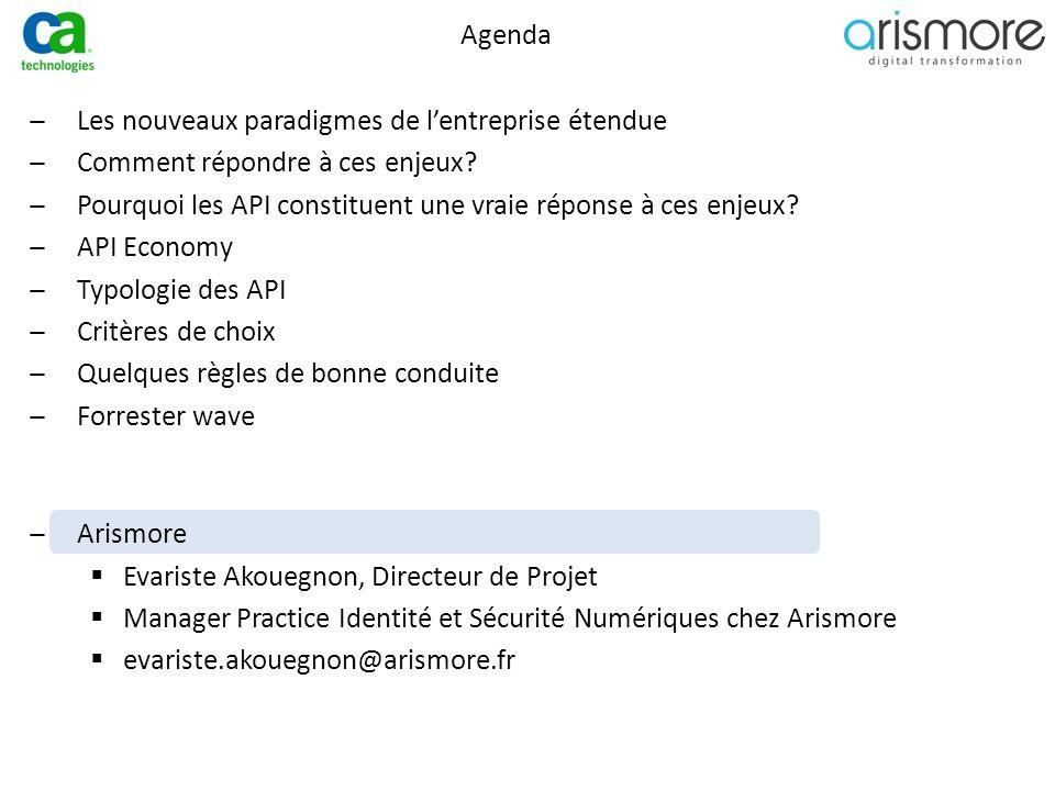 Agenda ̶Les nouveaux paradigmes de l'entreprise étendue ̶Comment répondre à ces enjeux? ̶Pourquoi les API constituent une vraie réponse à ces enjeux?