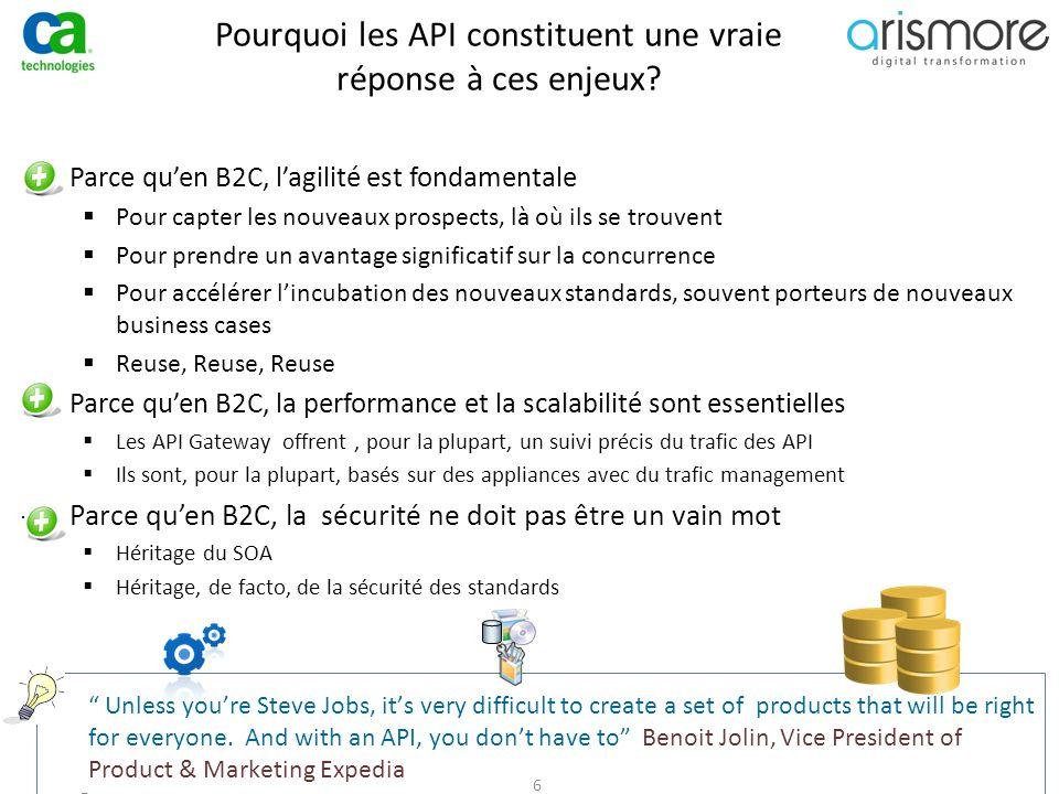 Pourquoi les API constituent une vraie réponse à ces enjeux? ̶Parce qu'en B2C, l'agilité est fondamentale  Pour capter les nouveaux prospects, là où