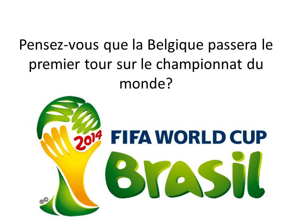Pensez-vous que la Belgique passera le premier tour sur le championnat du monde?