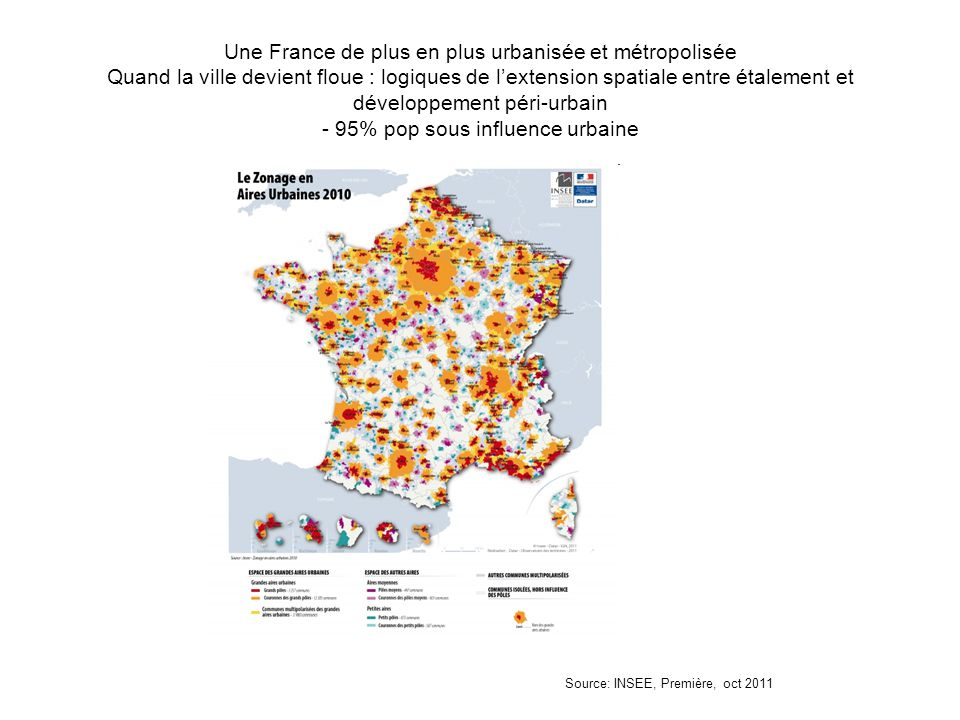 Une France de plus en plus urbanisée et métropolisée Quand la ville devient floue : logiques de l'extension spatiale entre étalement et développement
