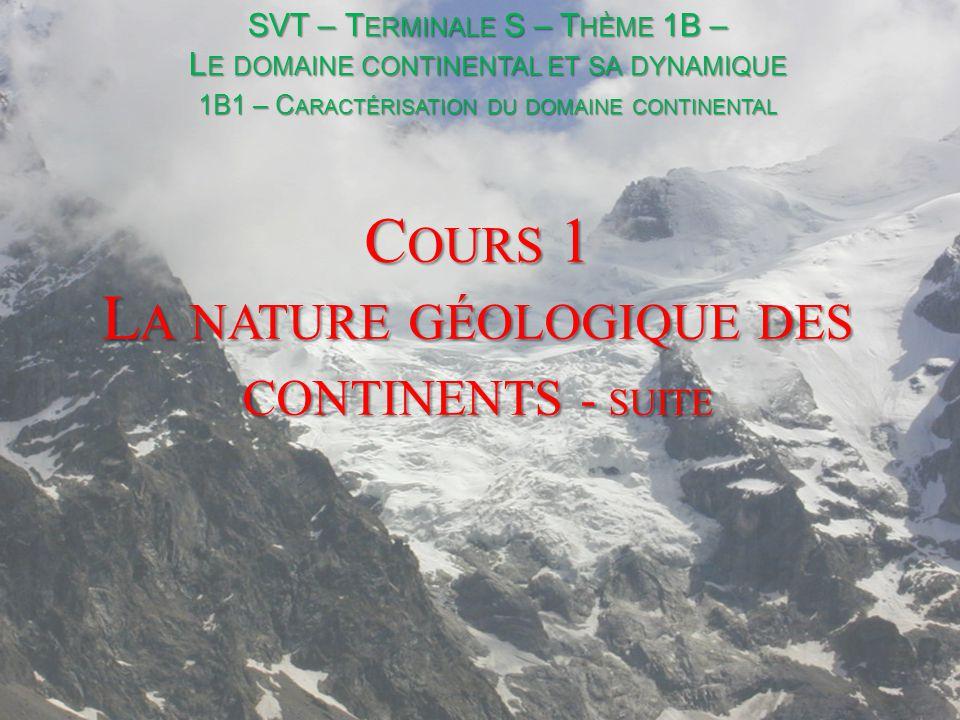 II- Les continents, des ensembles en équilibre TP 2 – L ES CONTINENTS (2) – DES ENSEMBLES EN ÉQUILIBRE Qu.
