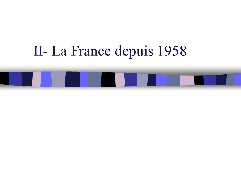 II- La France depuis 1958