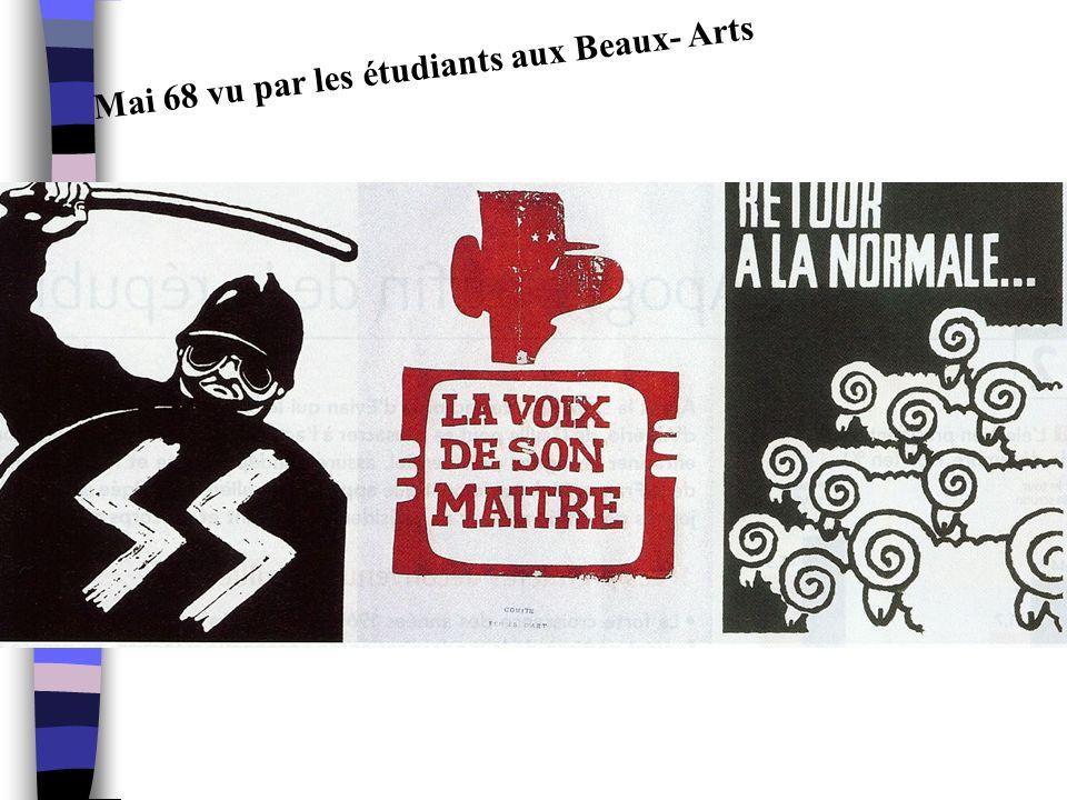 Mai 68 vu par les étudiants aux Beaux- Arts