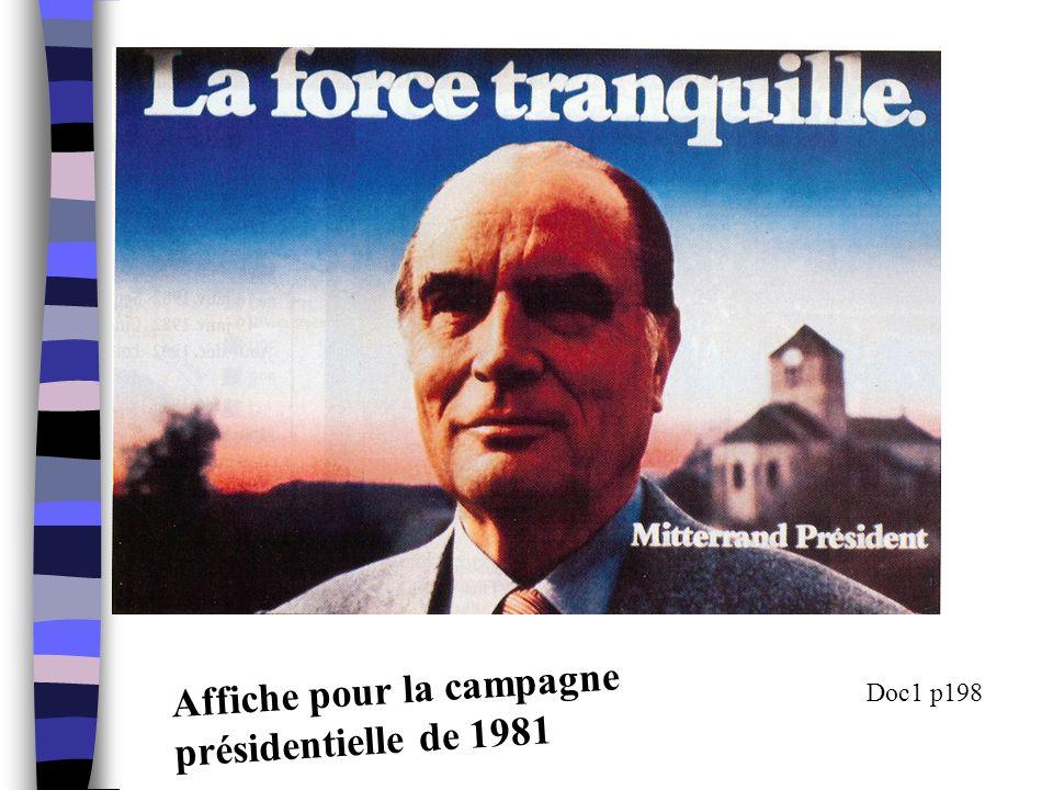 Affiche pour la campagne présidentielle de 1981 Doc1 p198