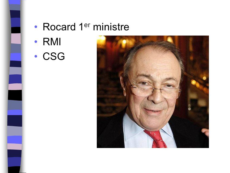 Rocard 1 er ministre RMI CSG