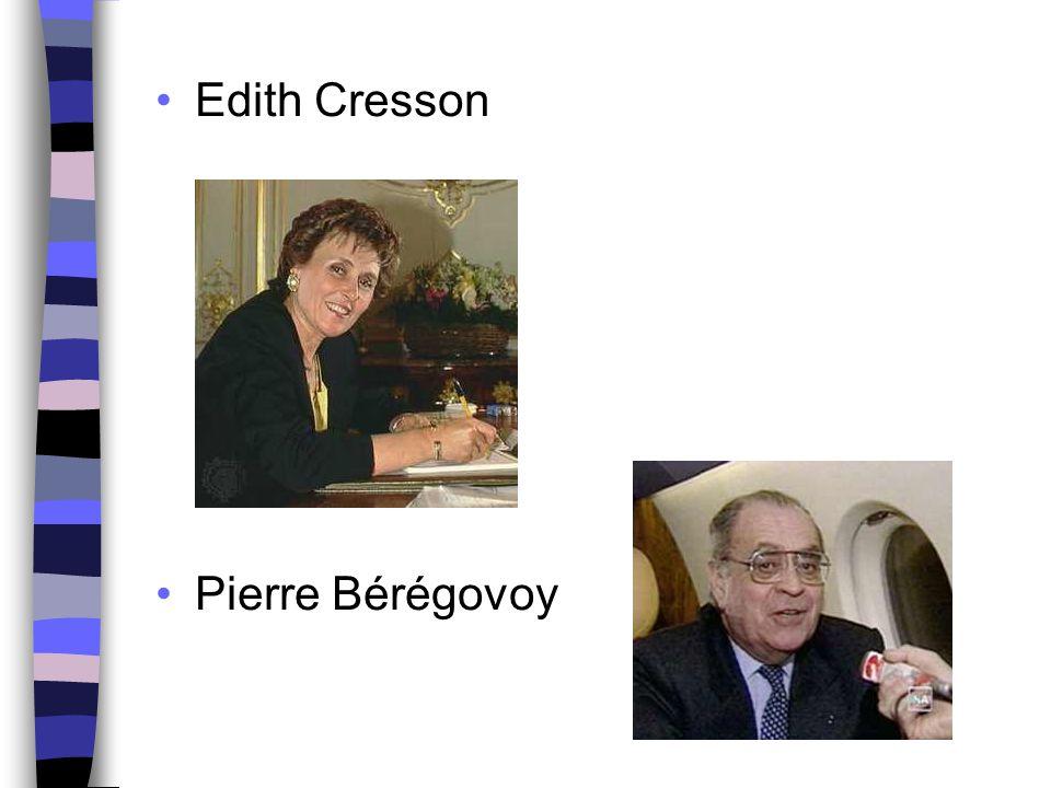 Edith Cresson Pierre Bérégovoy
