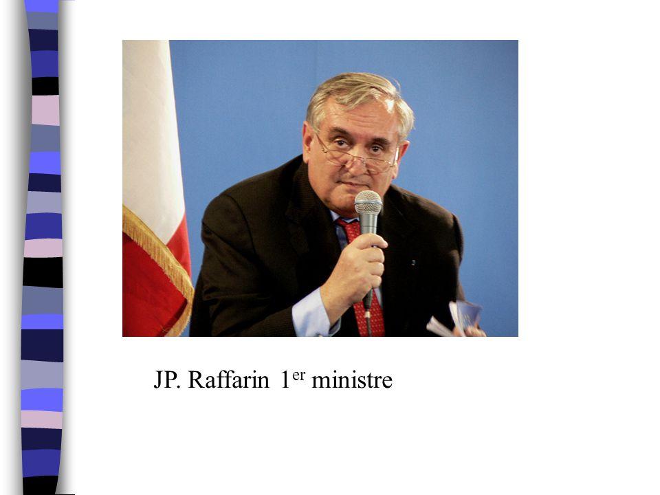 JP. Raffarin 1 er ministre