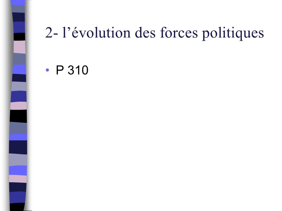 2- l'évolution des forces politiques P 310