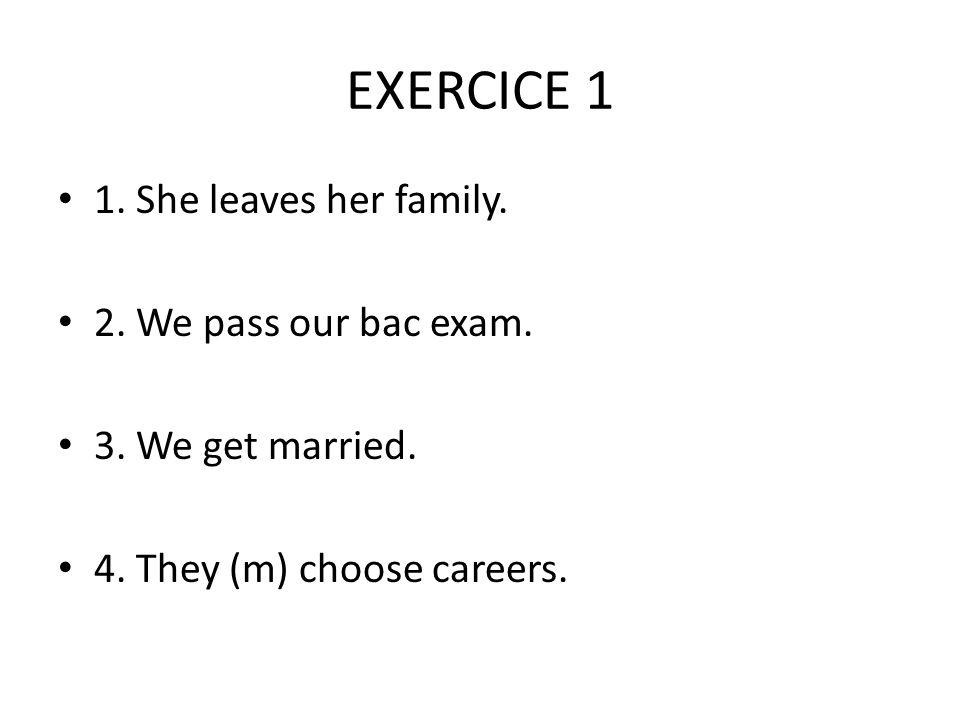 EXERCICE 1 5.You (informal) go to technical school.