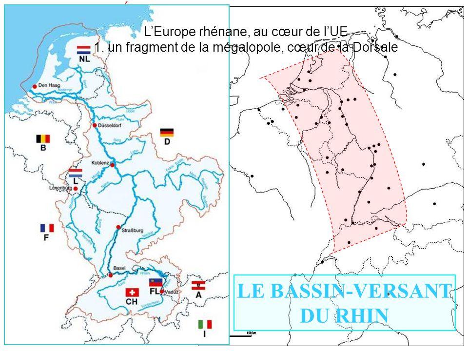 L'Europe rhénane, au cœur de l'UE 1. un fragment de la mégalopole, cœur de la Dorsale I) L'ESPACE RHÉNAN : UN DYNAMISME ………. 1) Une unité culturelle C