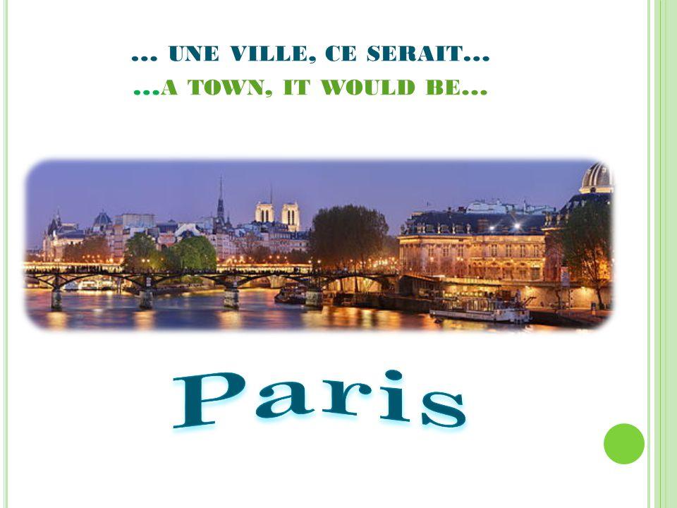 … UNE VILLE, CE SERAIT … … A TOWN, IT WOULD BE...