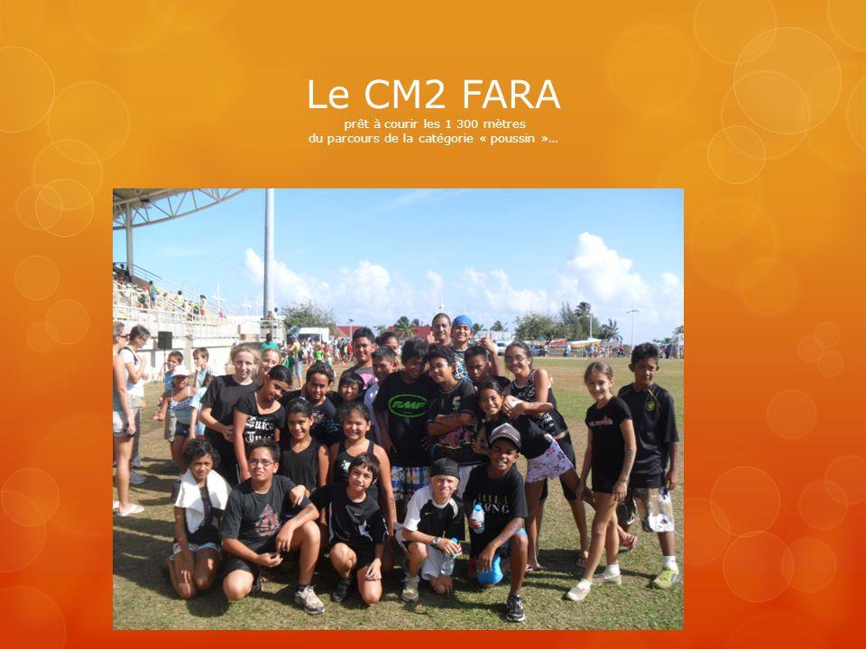 Le CM2 FARA prêt à courir les 1 300 mètres du parcours de la catégorie « poussin »…
