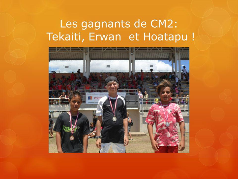 Les gagnants de CM2: Tekaiti, Erwan et Hoatapu !