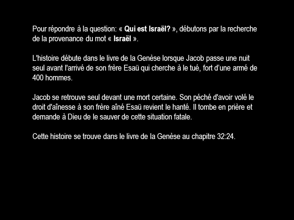 Pour répondre à la question: « Qui est Israël? », débutons par la recherche de la provenance du mot « Israël ». L'histoire débute dans le livre de la