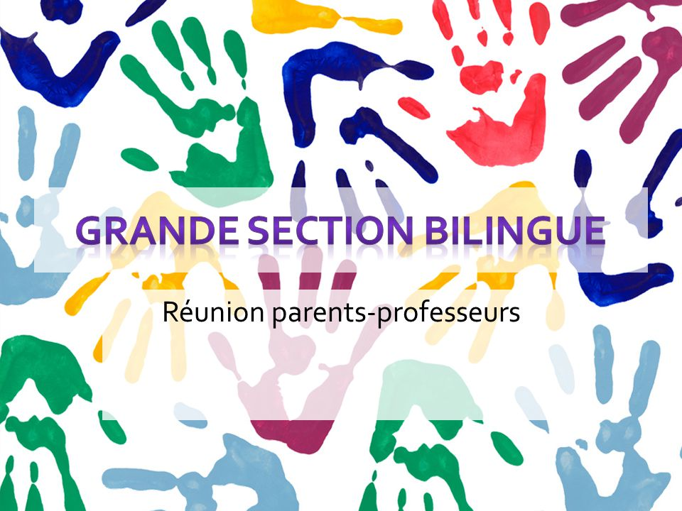 Le cursus bilingue Soyez patient: votre enfant comprendra vite l' anglais de la classe, et commencera à parler à son propre rythme.