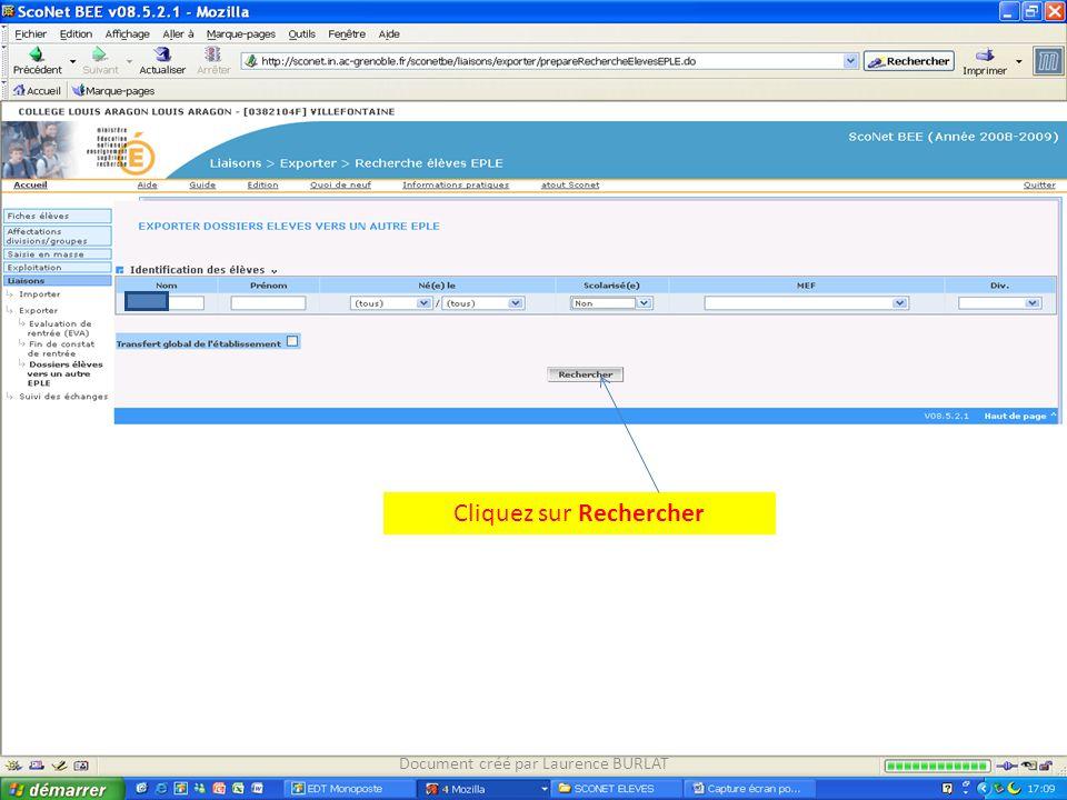 Cliquez sur Rechercher Document créé par Laurence BURLAT