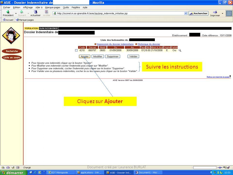 Suivre les instructions Cliquez sur Ajouter Document créé par Laurence BURLAT