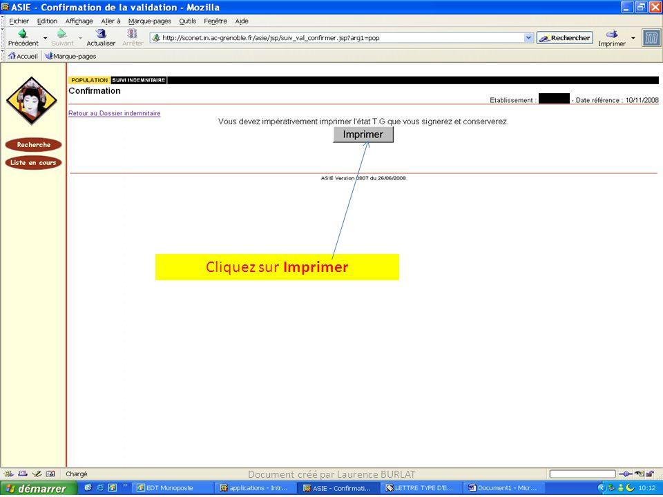 Cliquez sur Imprimer Document créé par Laurence BURLAT