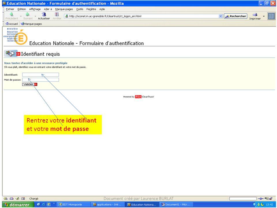 Saisir le « type d'heures » dans Code motif (liste déroulante) Document créé par Laurence BURLAT