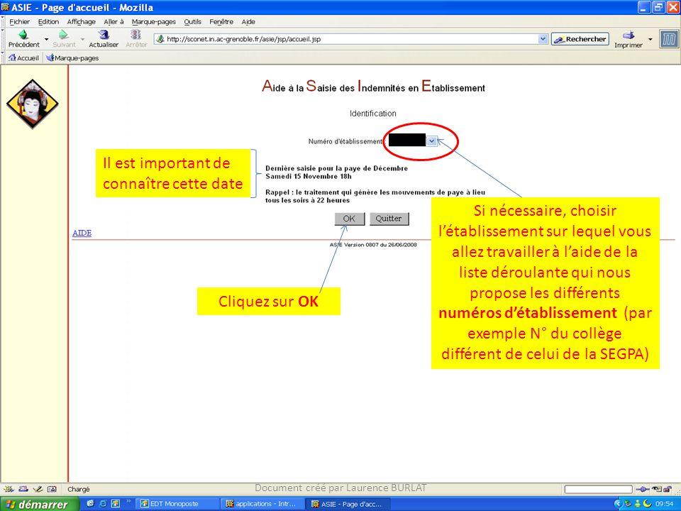 Saisir le type d'heures en observation, cliquer sur Ajouter Document créé par Laurence BURLAT