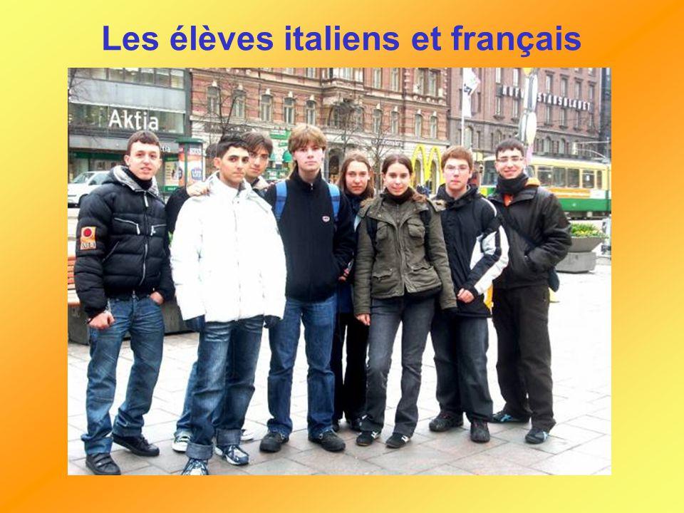 Les élèves italiens et français