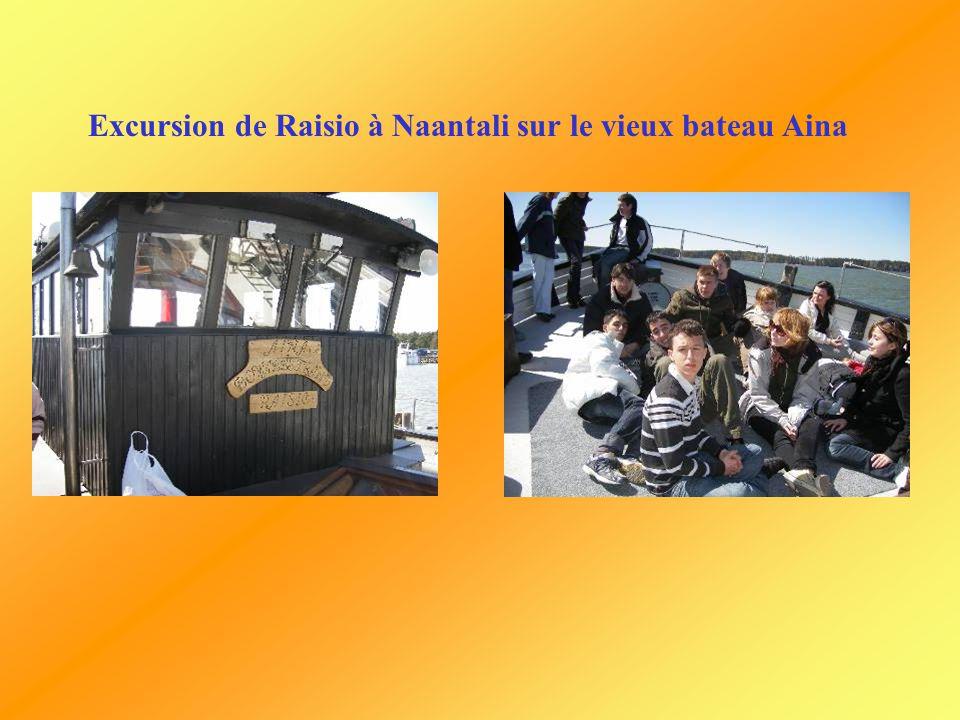 Excursion de Raisio à Naantali sur le vieux bateau Aina