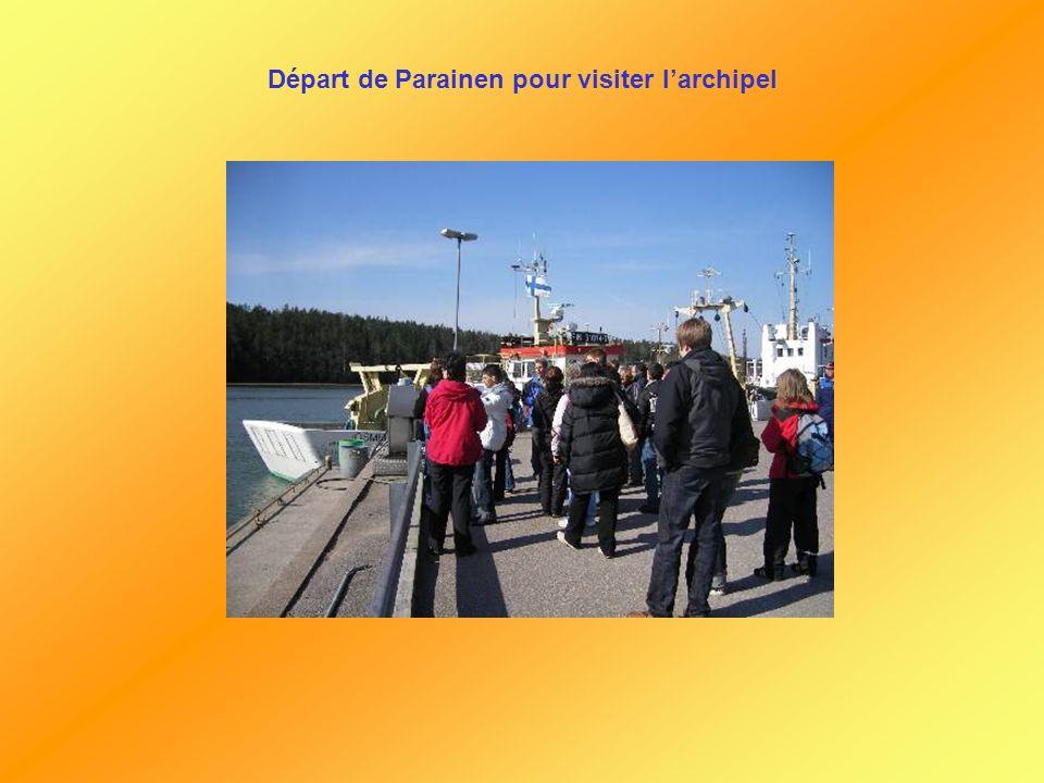 Départ de Parainen pour visiter l'archipel