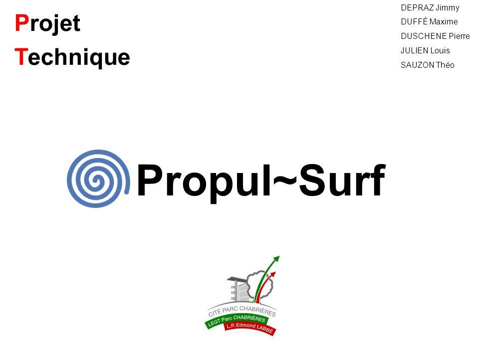 Projet Technique DEPRAZ Jimmy DUFFÉ Maxime DUSCHENE Pierre JULIEN Louis SAUZON Théo Propul~Surf