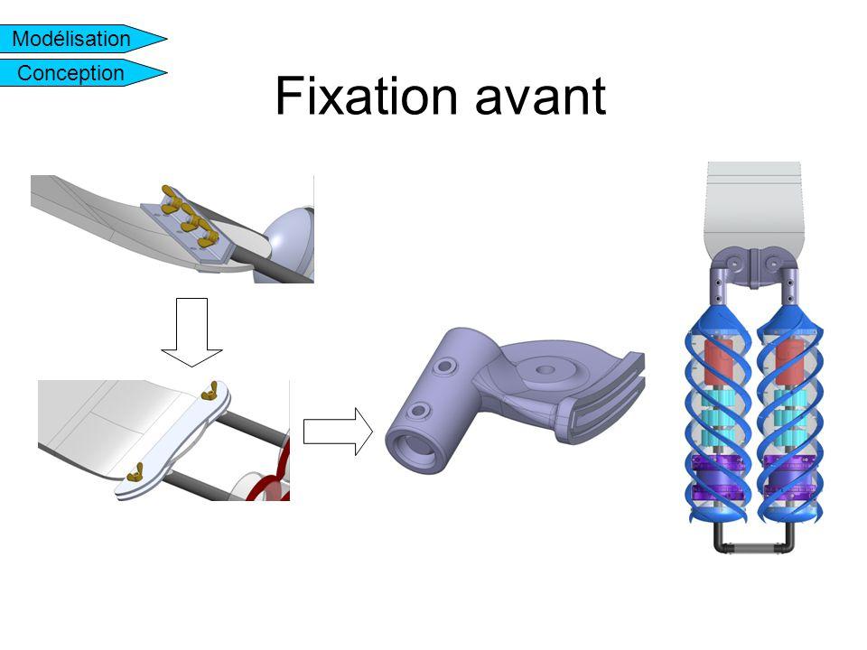 Fixation avant Modélisation Conception