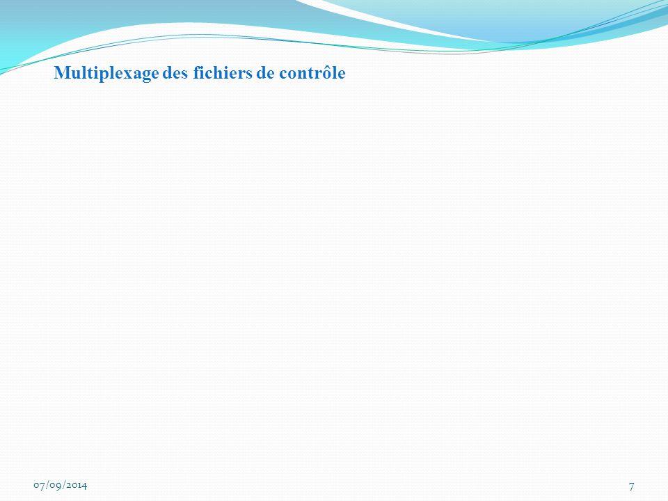 7 Multiplexage des fichiers de contrôle