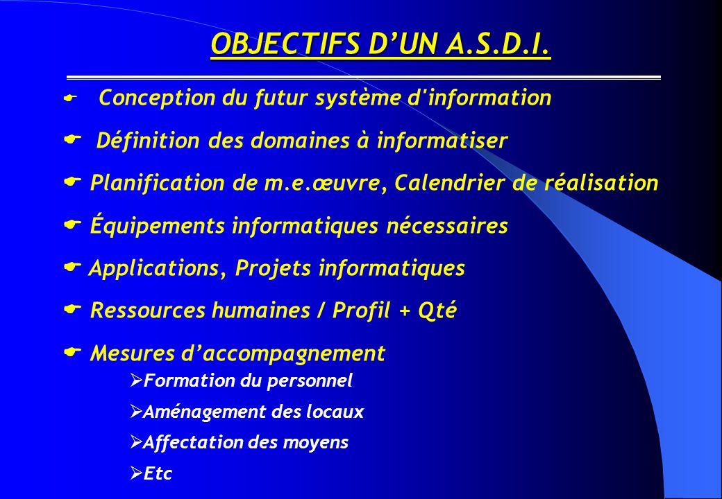 OBJECTIFS D'UN A.S.D.I.