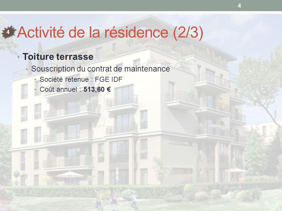 Déplacement du boitier de commande des ventilateurs des sous-sols Contexte Le boitier de commande des ventilateurs des sous-sols se trouve actuellement dans le couloir du RDC Cet emplacement n'est pas conforme car il doit être accessible directement par les pompiers Proposition de GRIFFELEC Description : Déplacer le boitier de commande à l'extérieur et à l'entrée du parking (à côté des boitiers de la résidence des Jardins d'Atlas) Montant : 1.701,91 € Calendrier d'appel des fonds A définir en séance Honoraires du syndic sur les travaux Suivi administratif des travaux : 2,5 % du montant HT Suivi technique des travaux en présence du syndic : 2 % du montant HT 15 17 18