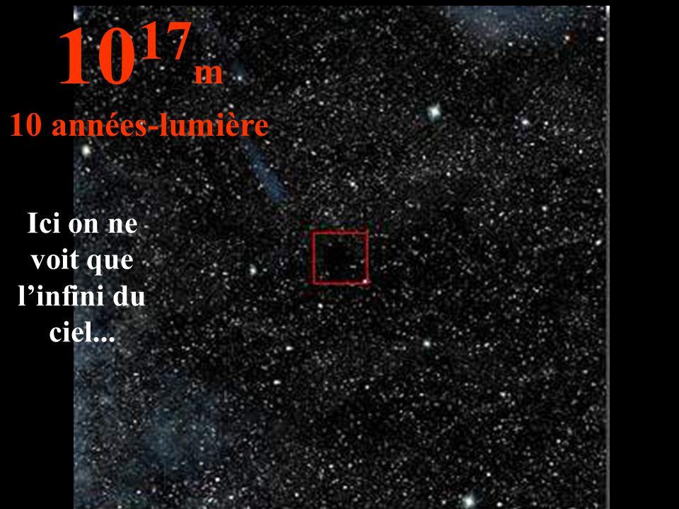 Ici on ne voit que l'infini du ciel... 10 17 m 10 années-lumière