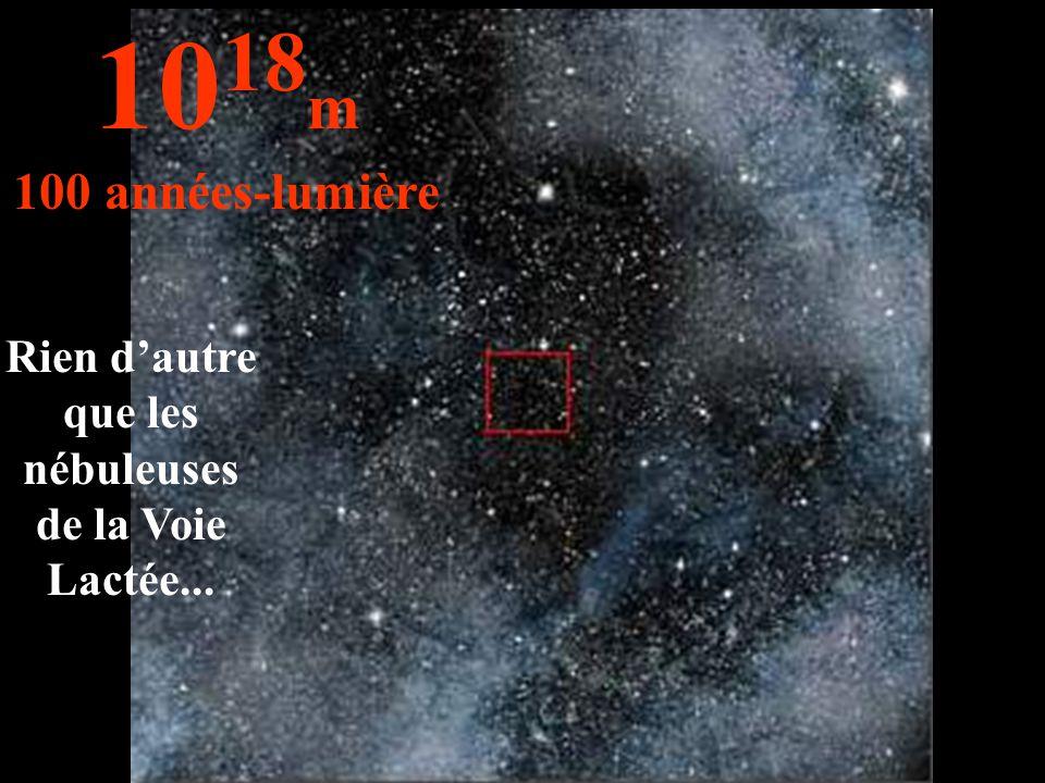 Rien d'autre que les nébuleuses de la Voie Lactée... 10 18 m 100 années-lumière