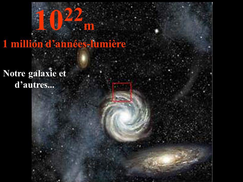 Notre galaxie et d'autres... 10 22 m 1 million d'années-lumière