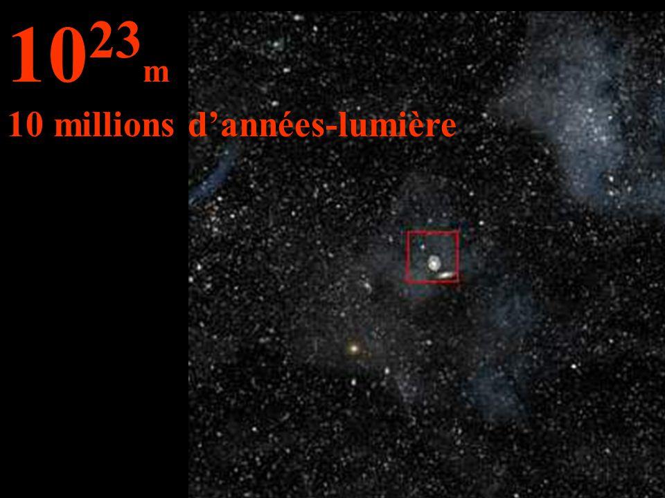 10 23 m 10 millions d'années-lumière