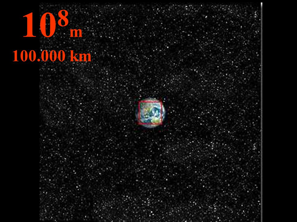 On peut voir l'orbite (dessinée) de la lune autour de la terre... 10 9 m 1 million de km