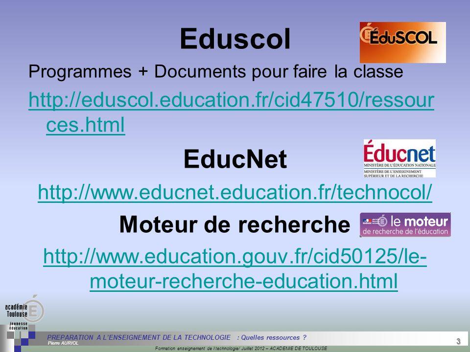 3 Séminaire « Définition de Produits » : méthodologie de définition d'une pièce GREC INITIALES Formation enseignement de l technologie/ Juillet 2012 –