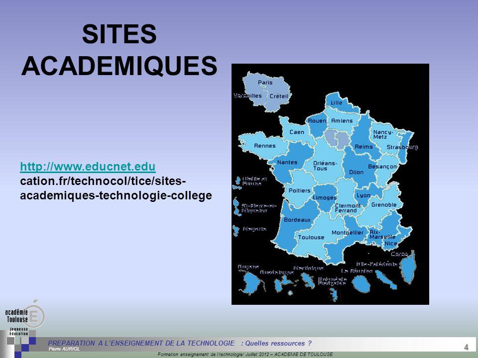 4 Séminaire « Définition de Produits » : méthodologie de définition d'une pièce GREC INITIALES Formation enseignement de l technologie/ Juillet 2012 –