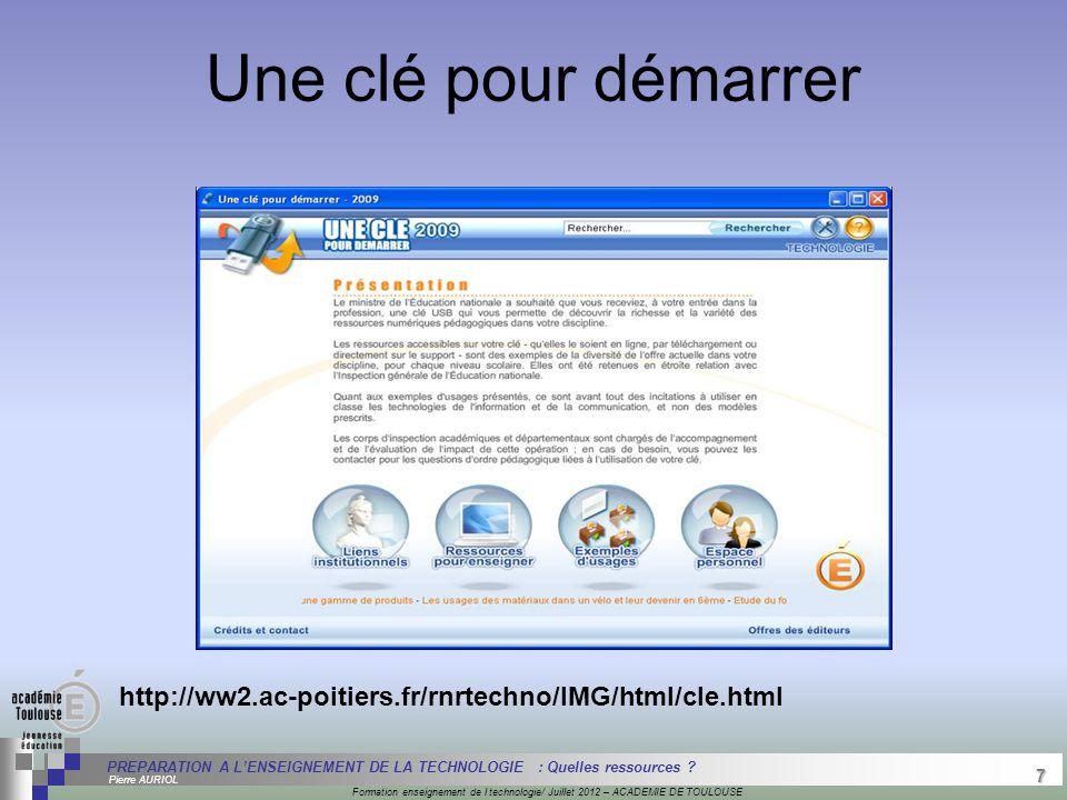 7 Séminaire « Définition de Produits » : méthodologie de définition d'une pièce GREC INITIALES Formation enseignement de l technologie/ Juillet 2012 –